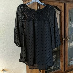 Sheer Lace detail Blouse